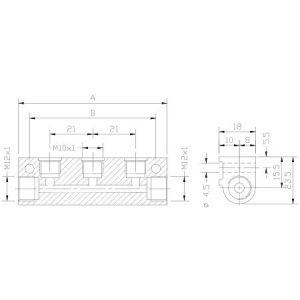 Blok dozownika pojedynczy (do mocowania i zasilania dozowników jednoliniowych)