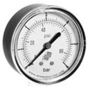 Manometr standardowy z podwójną skalą, przyłącze tylne, klasa dokładności 2,5