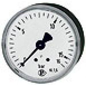 Manometr metalowy z pojedynczą skalą, przyłącze tylne