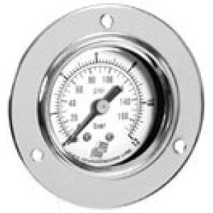 Manometr natablicowy z podwójną skalą, przyłącze tylne, klasa dokładności 2,5