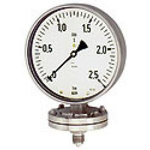 Manometr z separatorem do zastosowań chemicznych, przyłącze dolne