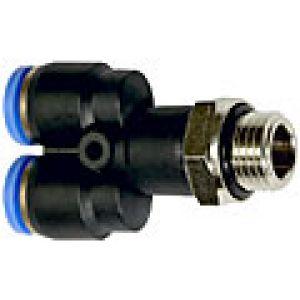 Trójnik wtykowy Y obrotowy z gwintem zewnętrznym (o-ring)