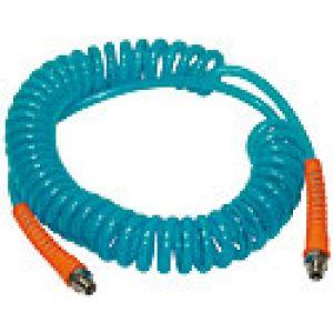 Kompletne węże spiralne z poliuretanu w wersji wzmocnionej z  obrotowymi końcówkami