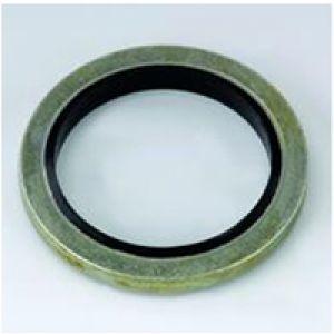 Uszczelki metalowe z gumą centrującą - calowe