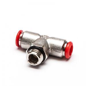 50216 - Trójnik wtykowy T obrotowy z gwintem zewnętrznym