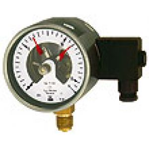 Manometr kontaktowy stykowy z magnetyczną sprężyną stykową