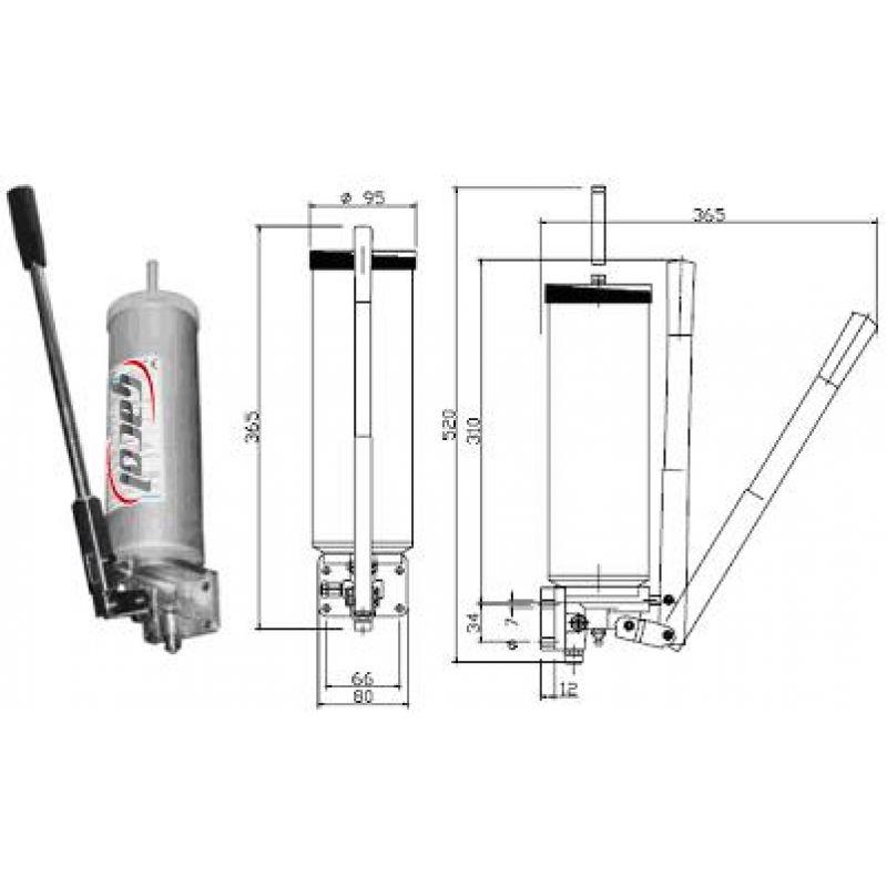 Pompa ręczna ze zbiornikiem 1,4 litra